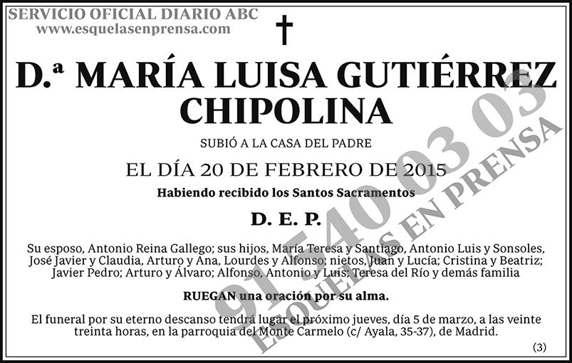 María Luisa Gutiérrez Chipolina